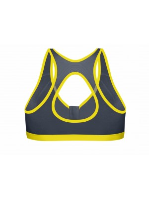 Active Zipped Plunge Bra